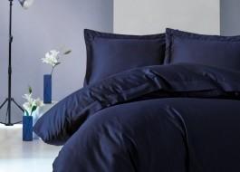 Lenjerie de pat premium satin de lux, Cotton Box, Elegant - Dark Blue