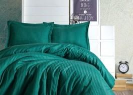 Lenjerie de pat premium satin de lux, Cotton Box, Elegant - Petrol Green