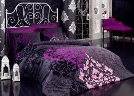 Lenjerie de pat premium satin de lux, Cotton Box, Kosem Sultan - Maroon
