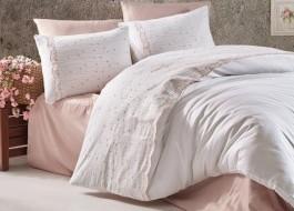 Lenjerie de pat premium satin de lux cu broderie, Clasy, Alissa