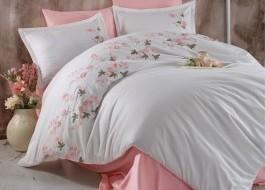 Lenjerie de pat premium satin de lux cu broderie, Clasy, Lare V1