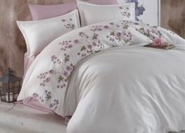 Lenjerie de pat premium satin de lux cu broderie, Clasy, Lare V2
