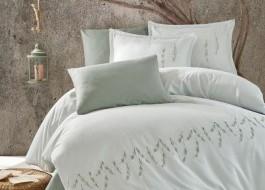 Lenjerie de pat premium satin de lux cu broderie, Clasy, Sole
