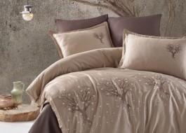 Lenjerie de pat premium satin de lux cu broderie, Clasy, Zeplin V2