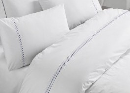 Lenjerie de pat premium satin de lux cu broderie, Cotton Box, Dante