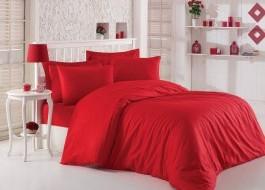 Lenjerie de pat premium satin de lux, Cotton Box, Red v2