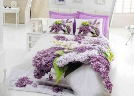 Lenjerie 3D Life din bumbac 100 ranforce, Cotton Box, Vilma - Lilac