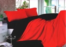 Lenjerie de pat rosu cu negru MX17