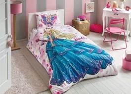 Lenjerie de pat TAC Disney 3 piese Barbie Dreams