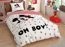 Lenjerie de pat TAC Disney 3 piese Disney Mickey, Oh Boy