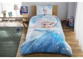 Lenjerie de pat TAC Disney 3 piese Frozen Glitter