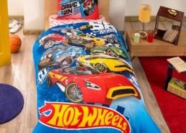 Lenjerie de pat TAC Disney 3 piese Hot wheels