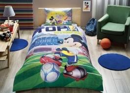 Lenjerie de pat TAC Disney 3 piese Mickey goal