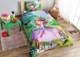 Lenjerie de pat TAC Disney 3 piese Sofia the first