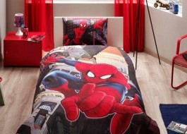 Lenjerie de pat TAC Disney 3 piese Spiderman in city
