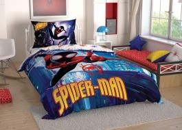 Lenjerie de pat TAC Disney 3 piese Spiderman Skyscraper