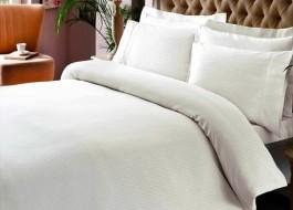 Lenjerie de pat TAC premium satin de lux, Stripe alb