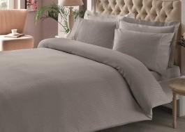 Lenjerie de pat TAC premium satin de lux, Stripe Anthracite