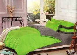 Lenjerie de pat verde cu gri MX112