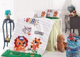 Lenjerie de pătut pentru bebeluşi din bumbac 100%, 4 piese, Nazenin Home, Player