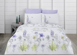 Lenjerie pat 3 piese, bumbac 100% ranforce,1 persoana,  Bahar Home, Blossom