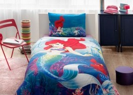 Lenjerie de pat TAC Disney 3piese Ariel