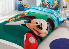 Lenjerie de pat TAC Disney 3piese Mickey Club