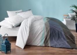Lenjerie de pat cu elastic pentru saltea de 160x200cm, bumbac 100% ranforce, TAC, Power