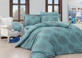 Lenjerii de pat de lux jacquard satin, Nazenin Home, Lavida - Turquoise