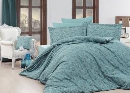 Lenjerii de pat de lux jacquard satin, Nazenin Home, Serena - Turquoise