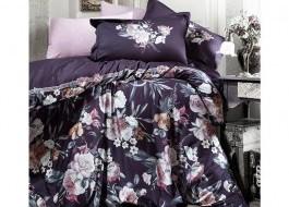 Lenjerii de pat dublu satin de lux, Pera V1 Purple
