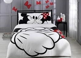 Lenjerii de pat dublu Tac Disney Mickey & Minnie Adore