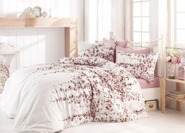 Lenjerii de pat ranforce, Bahar Home, Time Pink v2