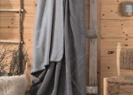 Patura bumbac si acryl 200x220cm, Cotton Box,Gri Inchis/Gri deschis