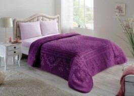 Patura de lux embosata TAC 220x240cm Amira Purple
