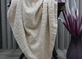 Patura embosata 180x200cm, Mink Cappuccino 516