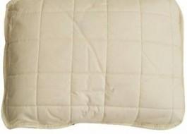 Perna bebeluși cu umplutura din lana si fata de bumbac 100% satinat, Cotton Box, 35x45 cm, ecru