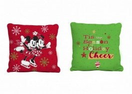 Pernuta decorativa 40x40cm, Tac Disney, Mickey and Minnie Happy New Year
