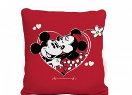 Pernuta decorativa 40x40cm, Tac Disney,  Minnie & Mickey Amour