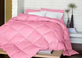 Pilota silicon iarna groasa cu fata damasc BBC100% 140x200 cm, roz