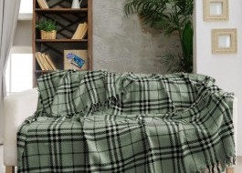 Pled subtire 200 x 230 cm, bumbac 100%, Class Bahar Home Collection, Verde