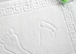 Prosop picioare 50 x 70cm, 650gr/m2, bumbac 100%, alb