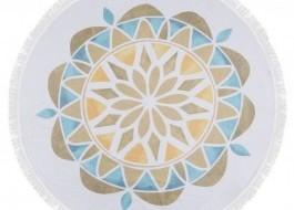 Prosop plaja bumbac 100% cu franjuri, Fouta - Multicolor B02