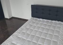 Protectie de pat 100% fibra de bambus, dimensiunea 140x200 cm, culoarea alb