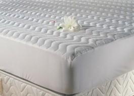 Protectie matlasata cu elastic, bumbac 100%, 200x200cm TAC, alba