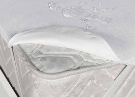 Protectie patut bebelusi bumbac 100% frotir, impermeabila, dimensiune 60x120cm
