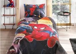 Set 1 persoana cuvertura + fata perna, bumbac 100%, Tac, Spiderman in City
