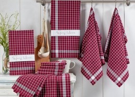 Set 10 prosoape bucatarie bumbac 100%, Kup - Claret Red