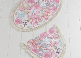 Set 2 covorase baie, Alessia Home, Dolce Oval