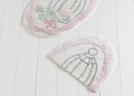 Set 2 covorase baie, Alessia Home, Sweet Bird - Pink